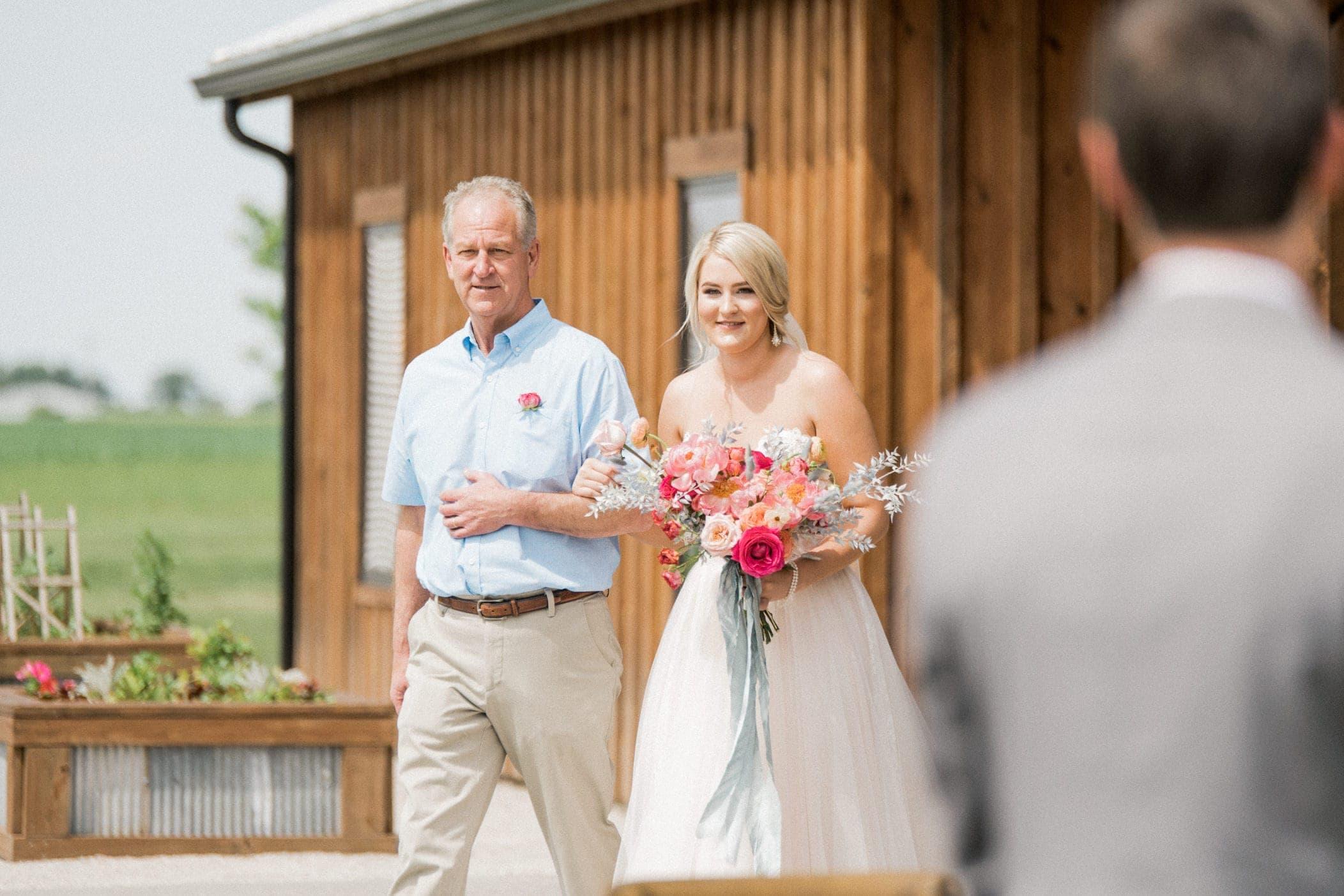 Irishman Acres Clover Barn wedding ceremony