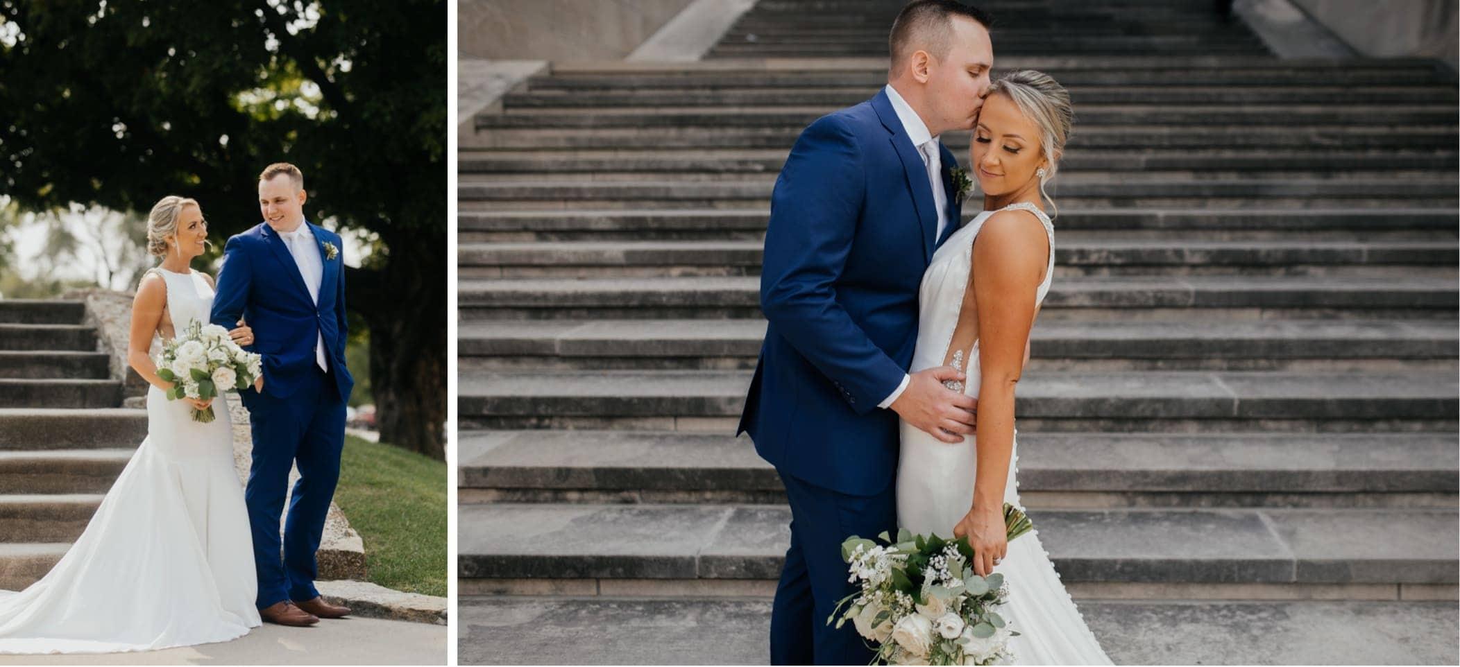 bride and groom portraits kc