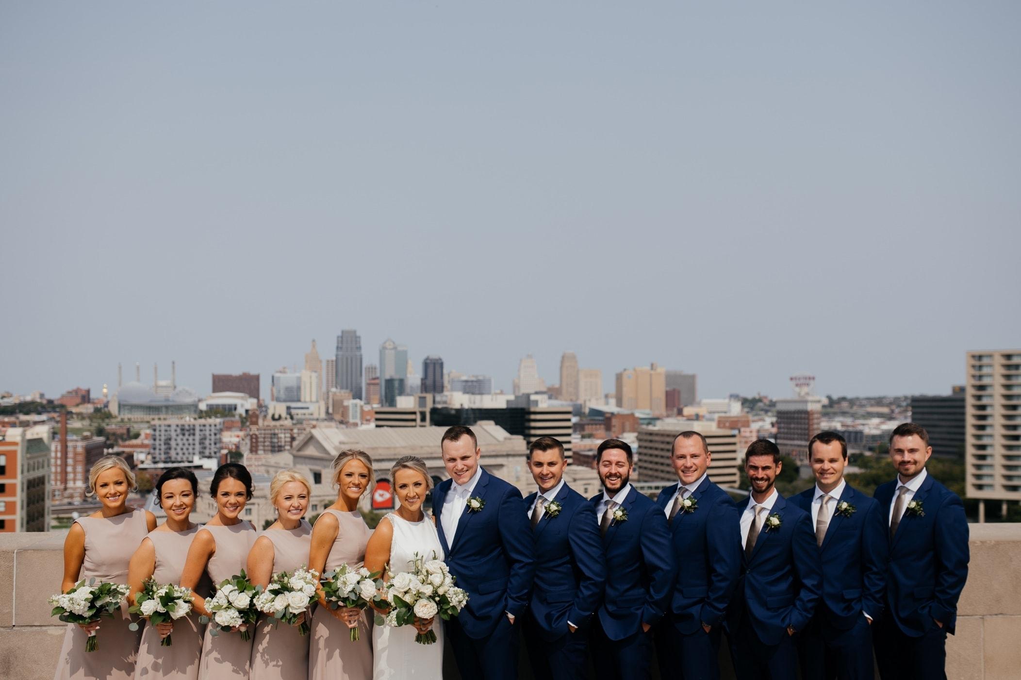 bridal party portraits kansas city