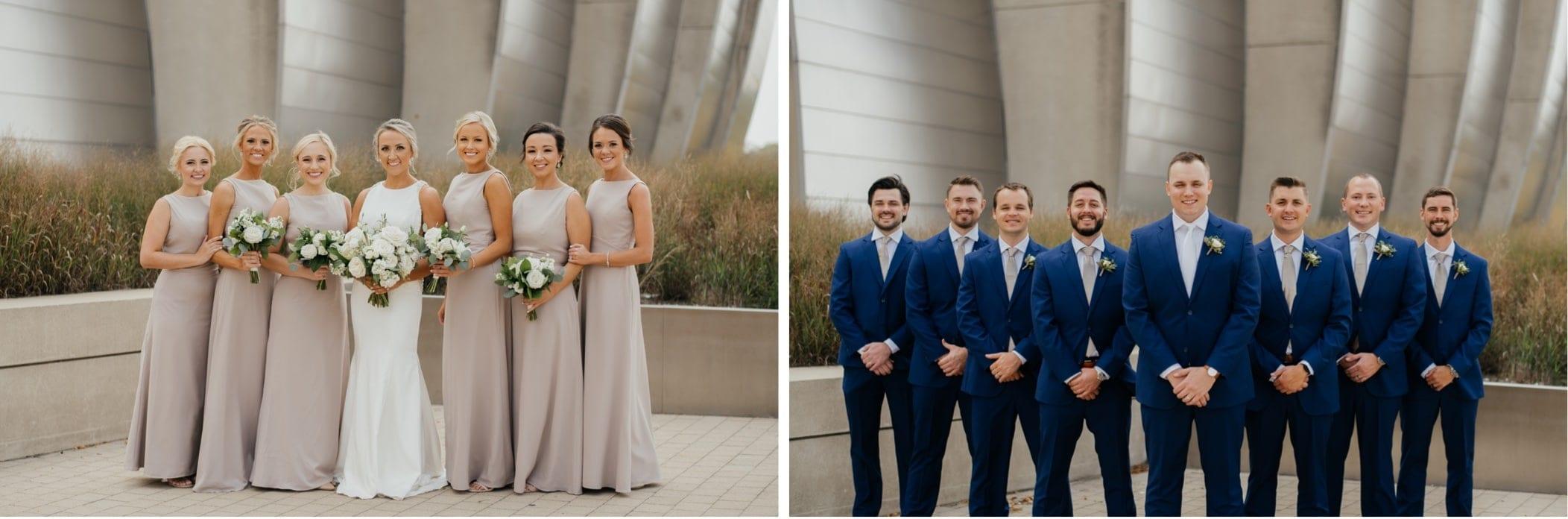 bridal party portraits kauffman center