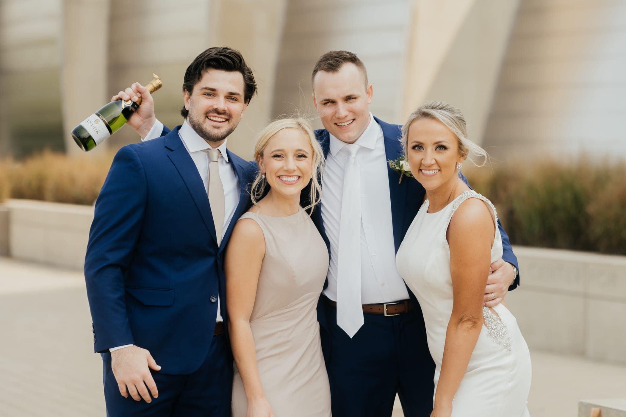 wedding party at kauffman center