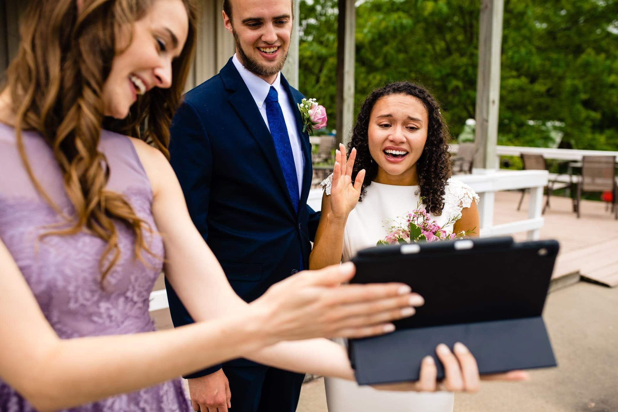 Covid wedding photos