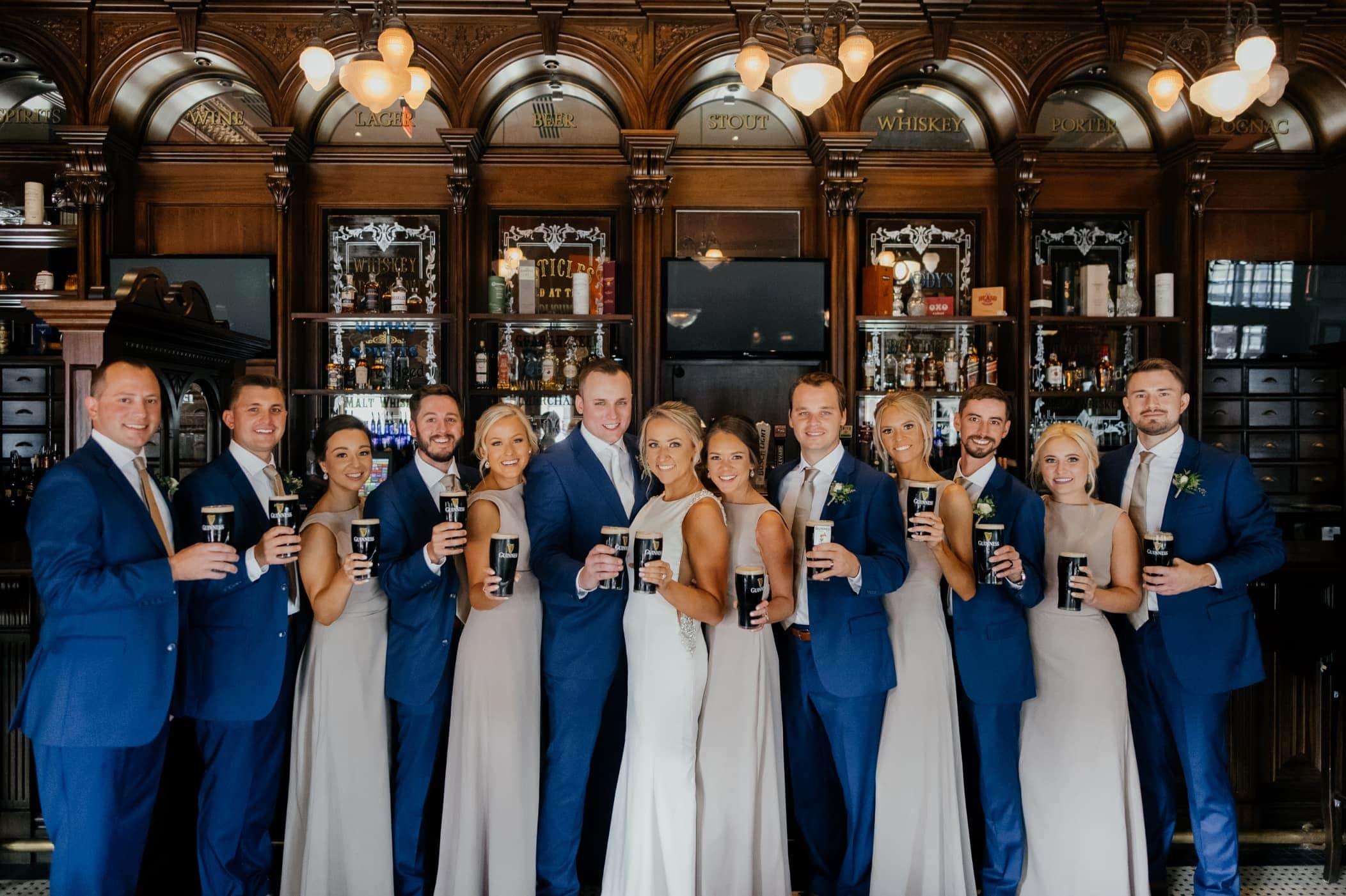 wedding party bar photos