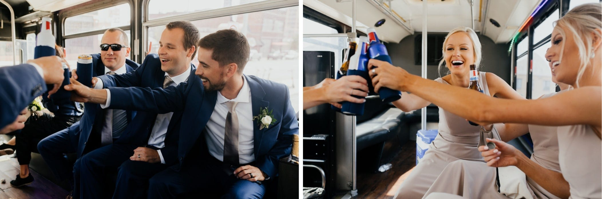 wedding party on party bus kansas city