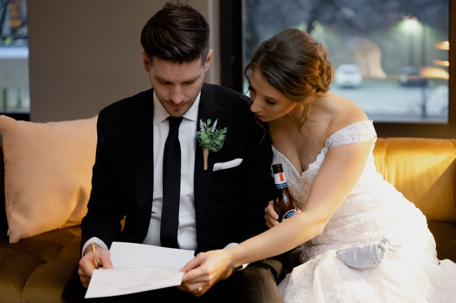 Signing your marriage license
