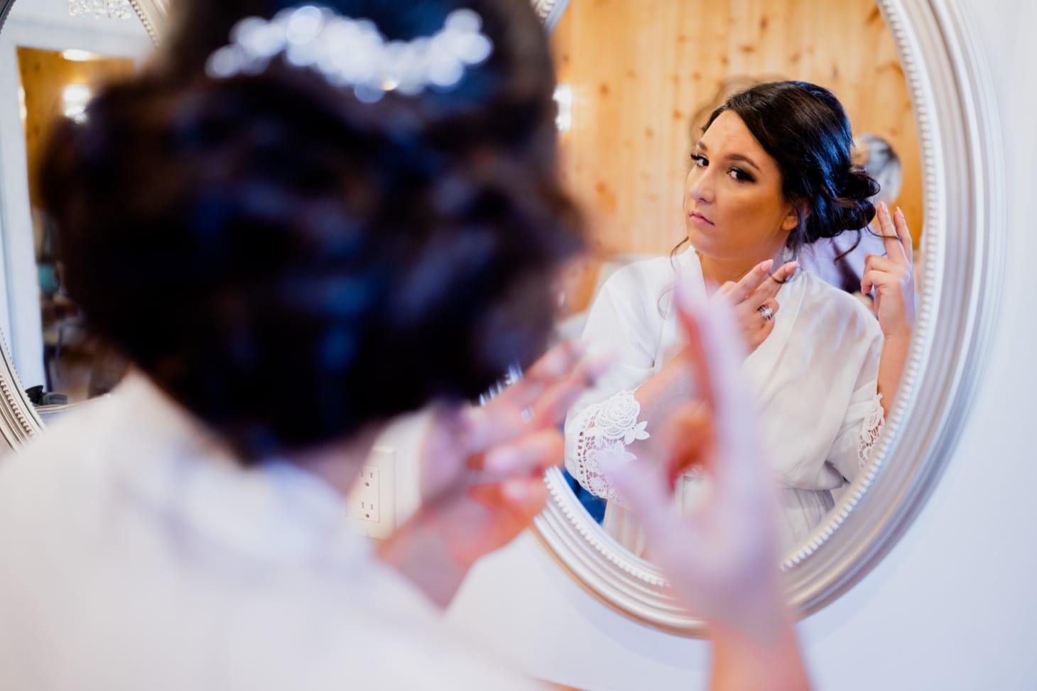 wedding hair at country lane lodge adel iowa