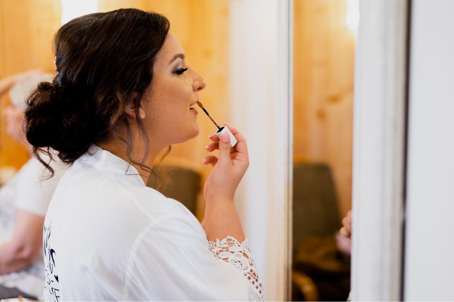 wedding makeup at country lane lodge