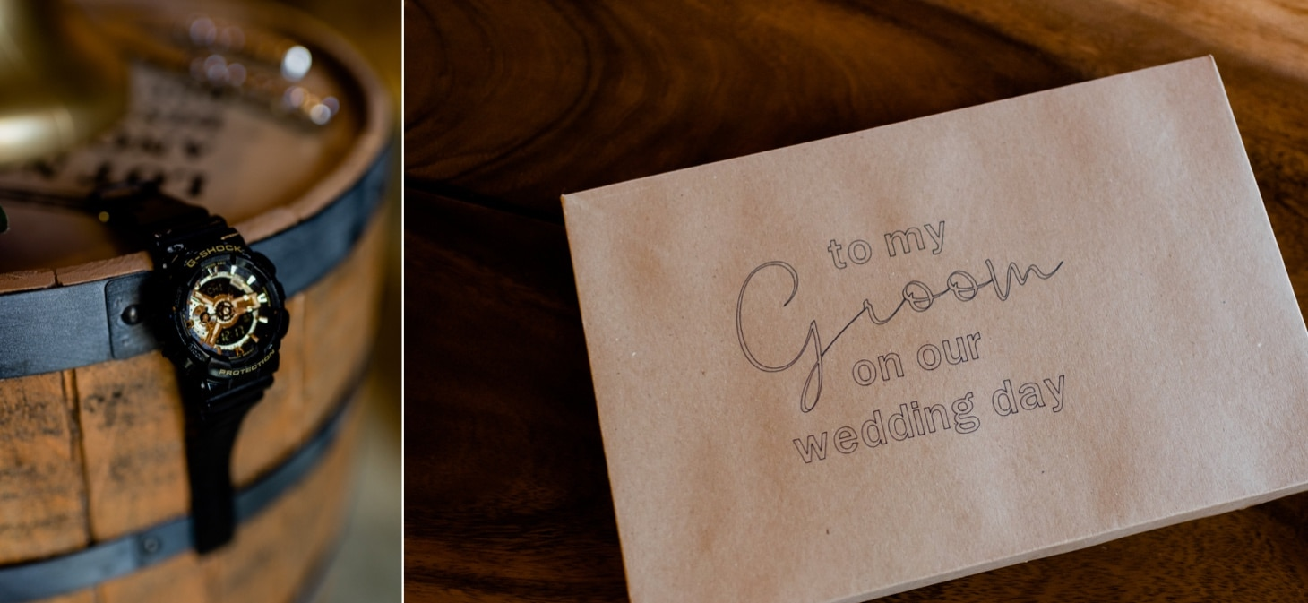 groom details at country lane lodge