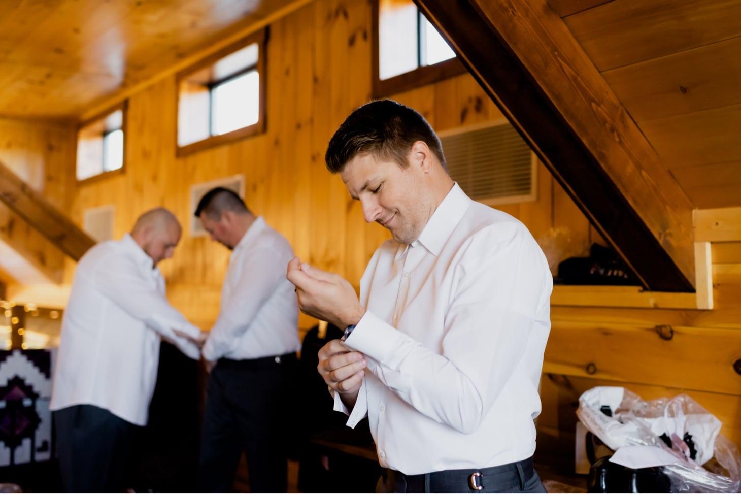 groomsmen getting ready photos adel iowa