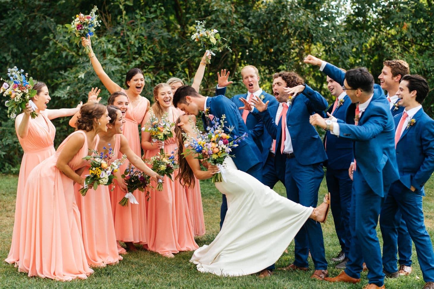 bridal party harvest preserve wedding photography