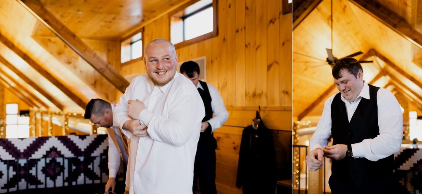 getting ready photos country lane lodge barn wedding