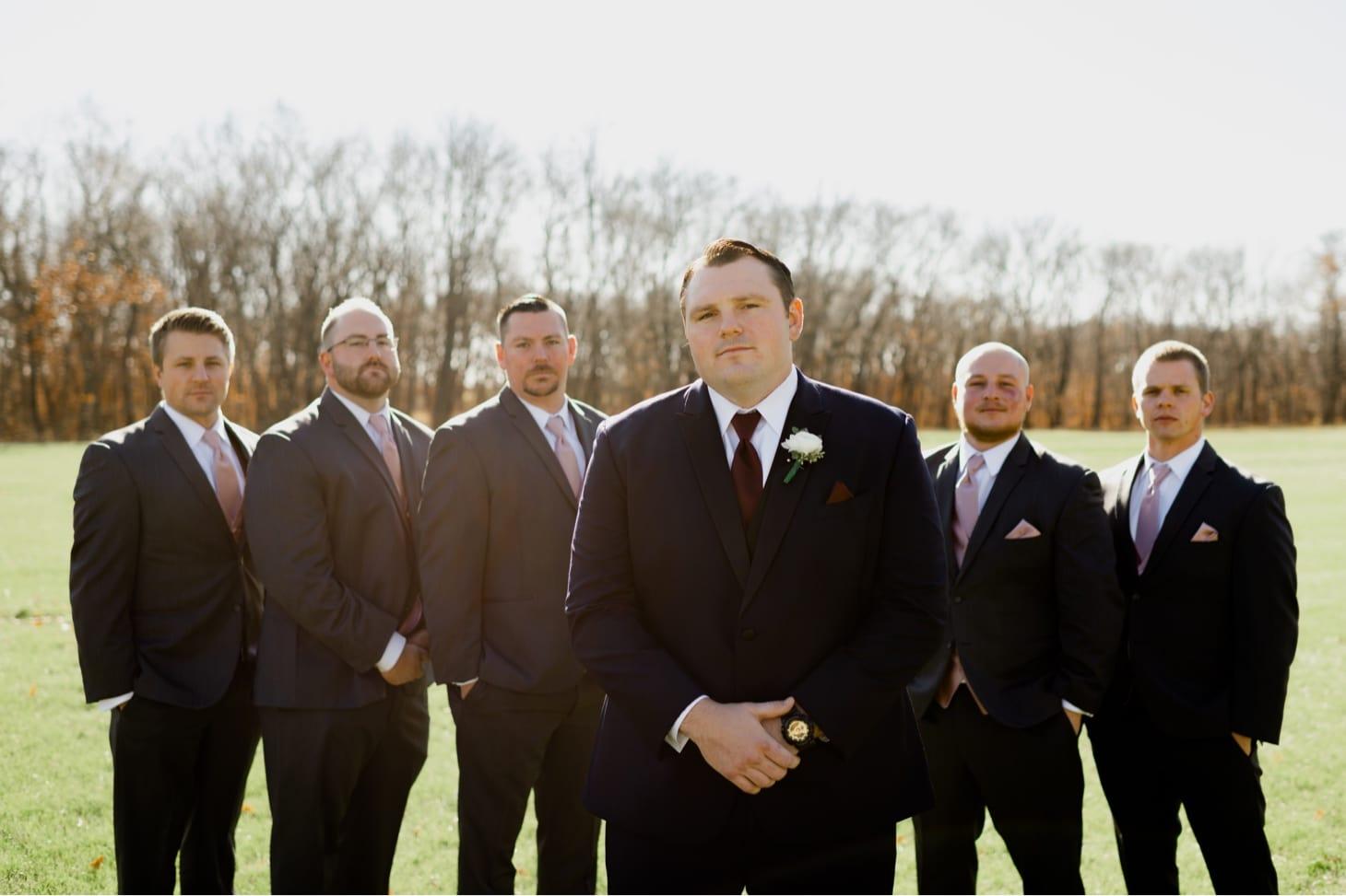 groomsmen at country lane lodge adel iowa