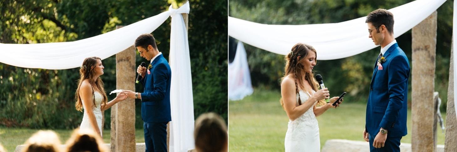 wedding vows at harvest preserve
