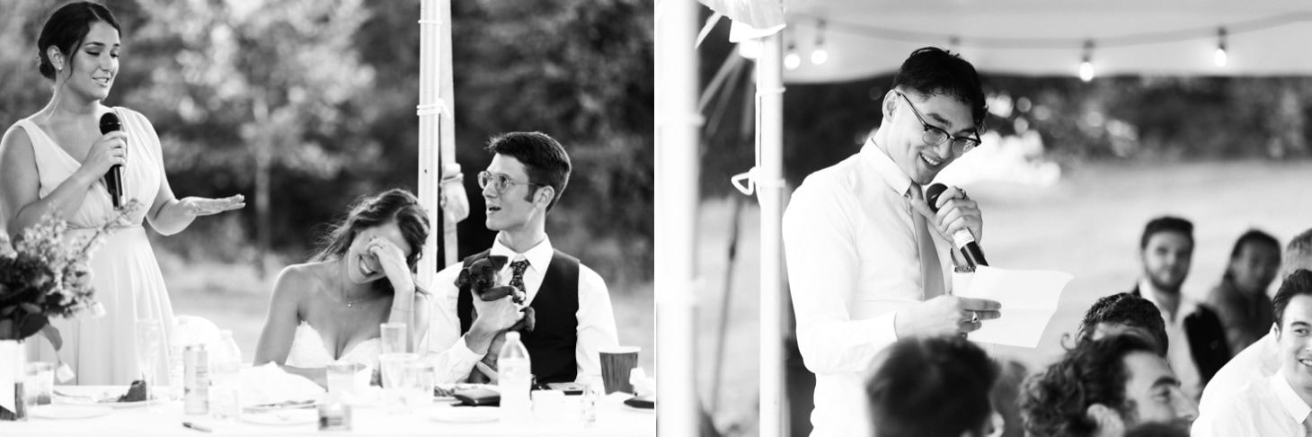 toasts at iowa city wedding reception