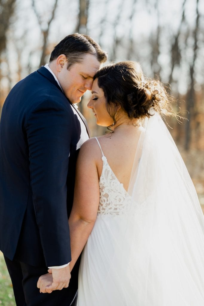 bride and groom portrait adel iowa