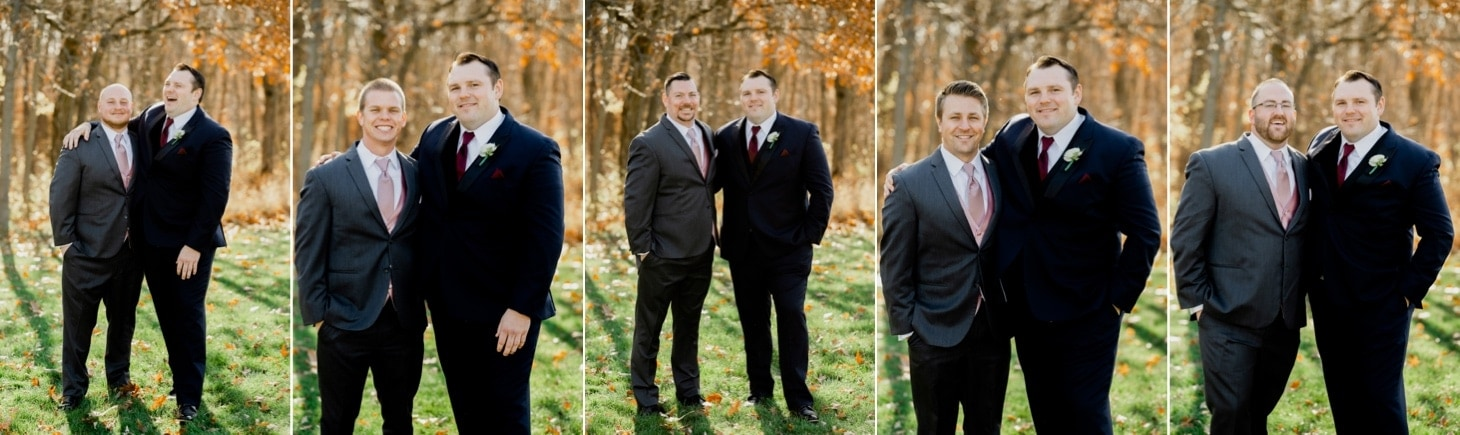 groom with groomsmen at country lane lodge