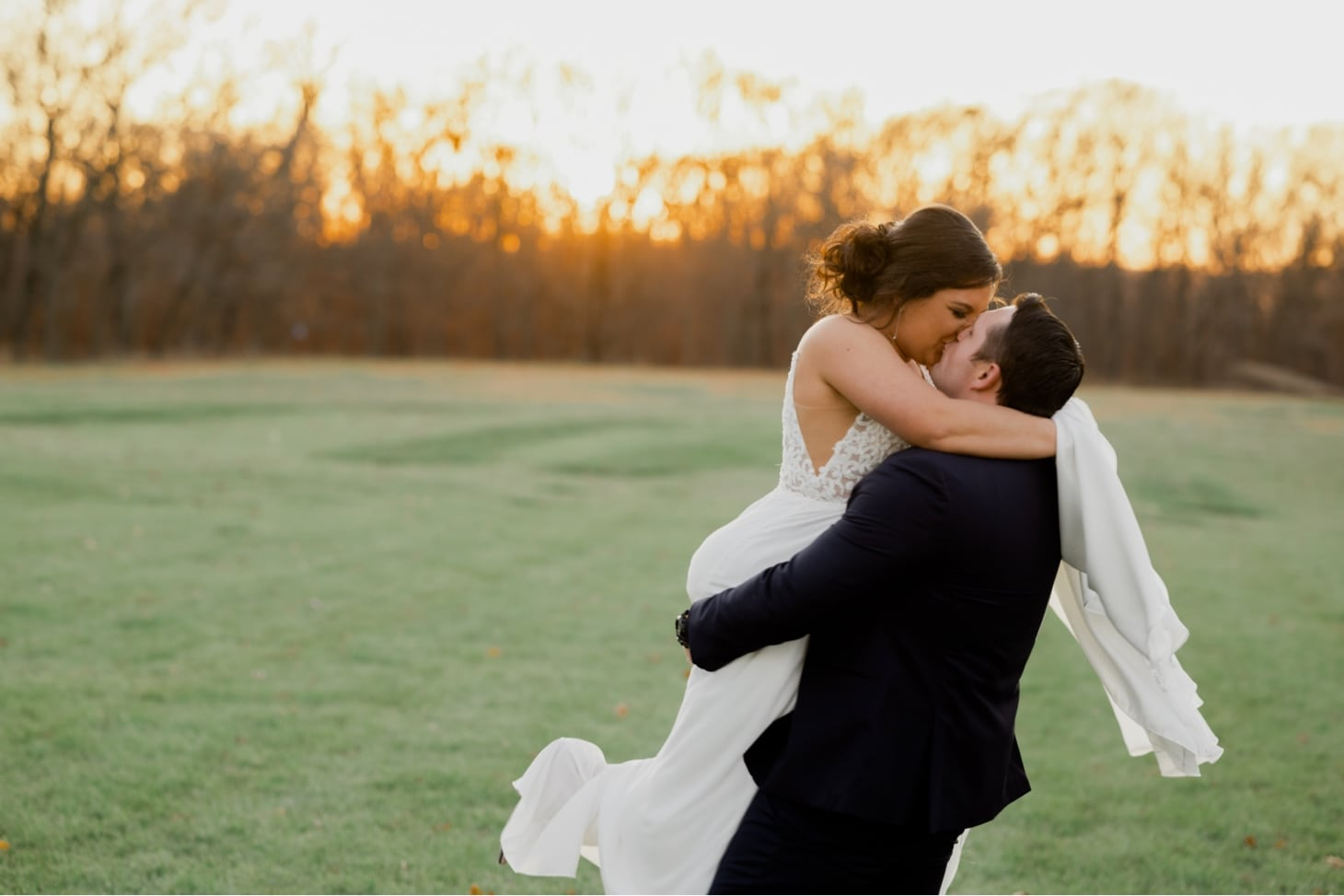 couples sunset portrait country lane lodge adel iowa