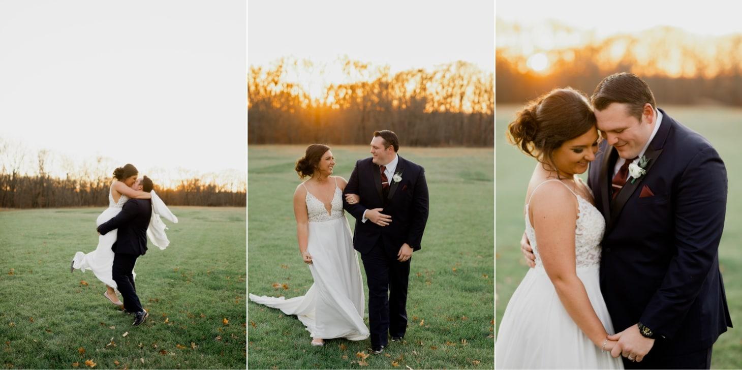 couples sunset portraits adel iowa