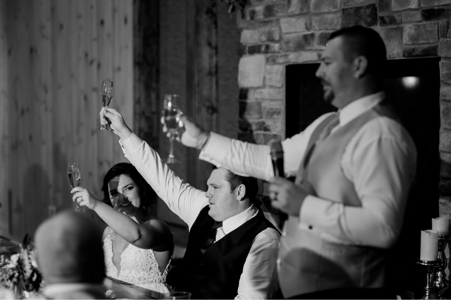 wedding toasts at country lane lodge