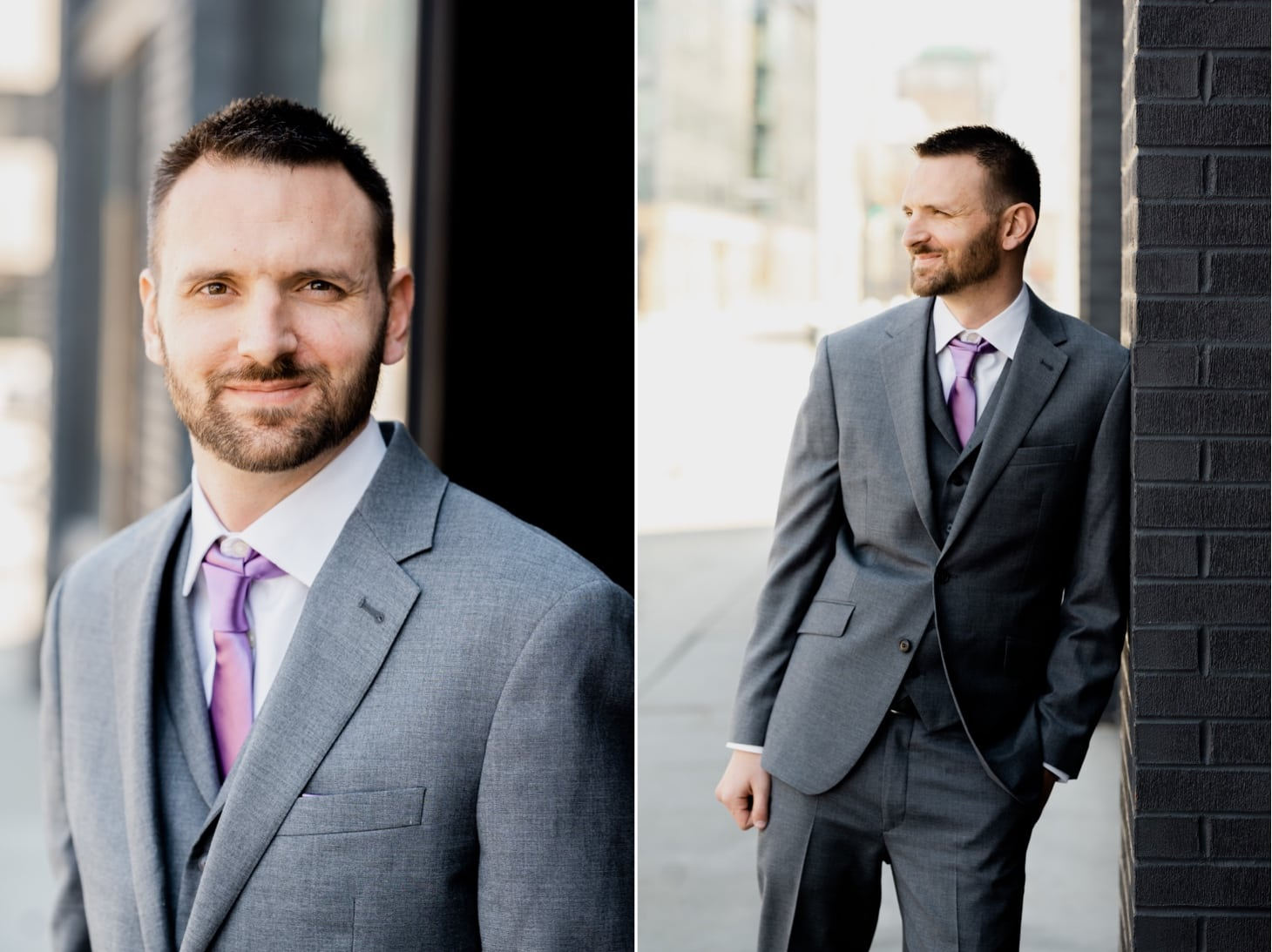 groom portrait Des Moines Iowa