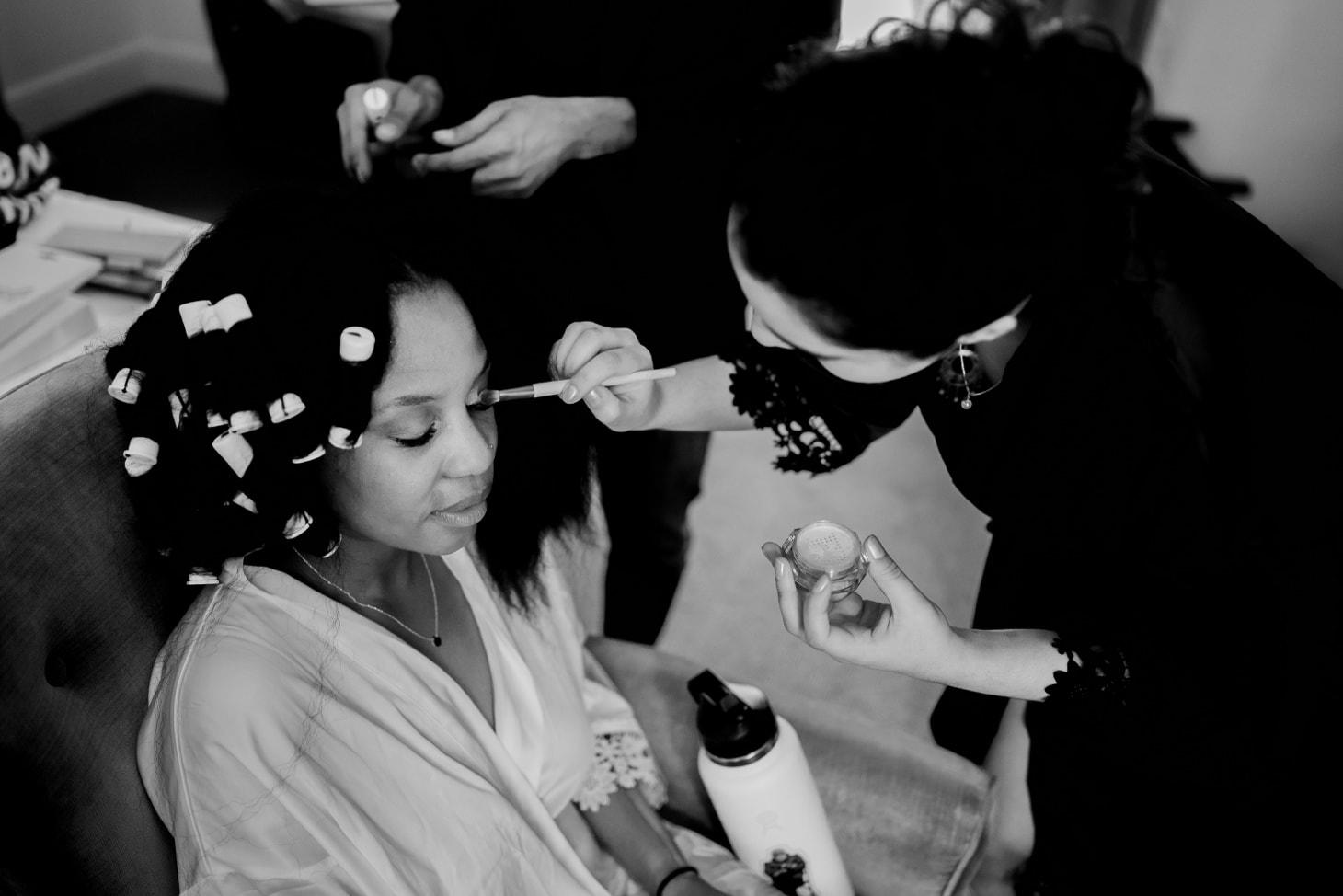 bridal makeup at Mount Bonnell wedding Austin Texas