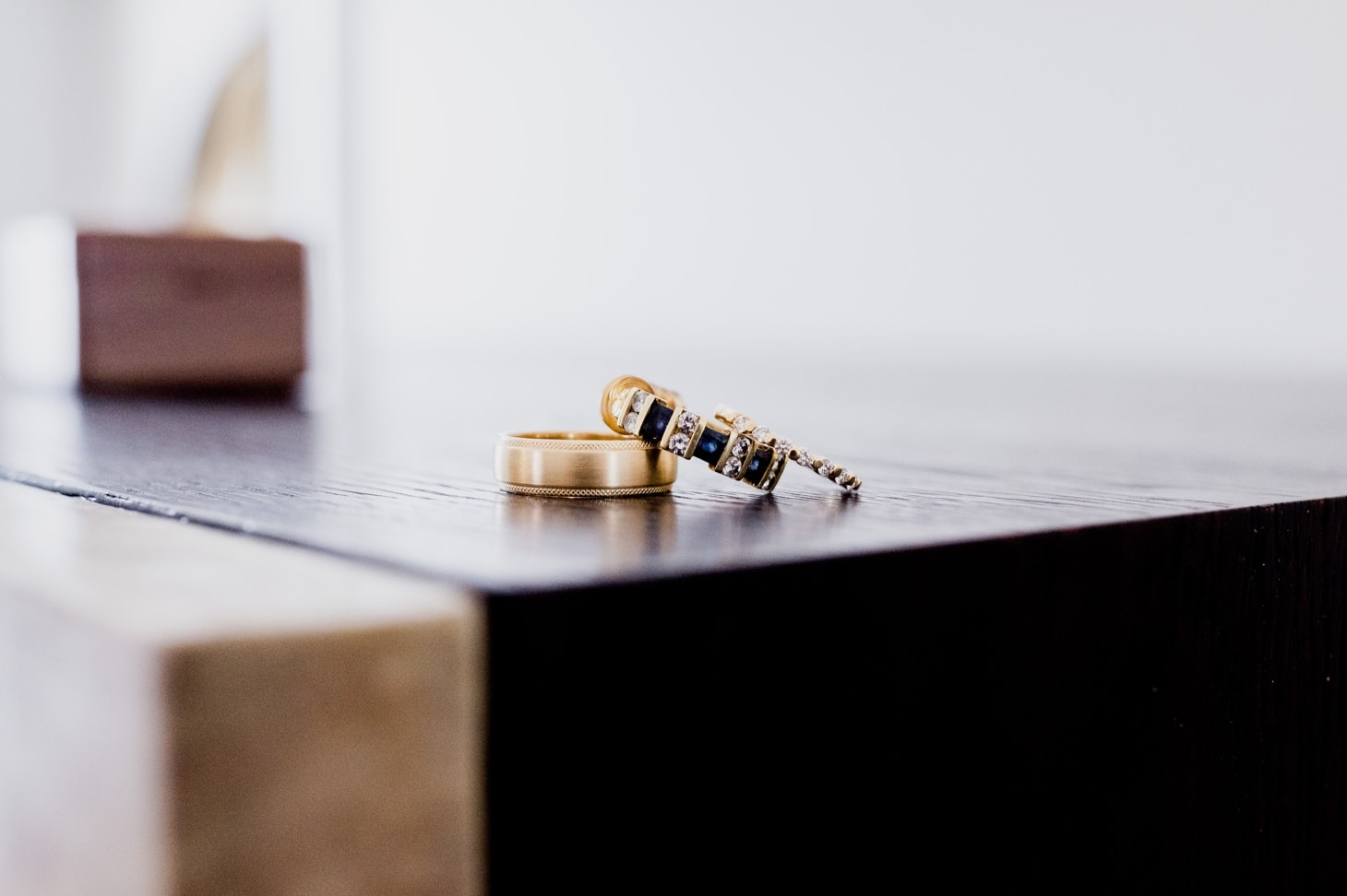 rings at Mount Bonnell micro wedding