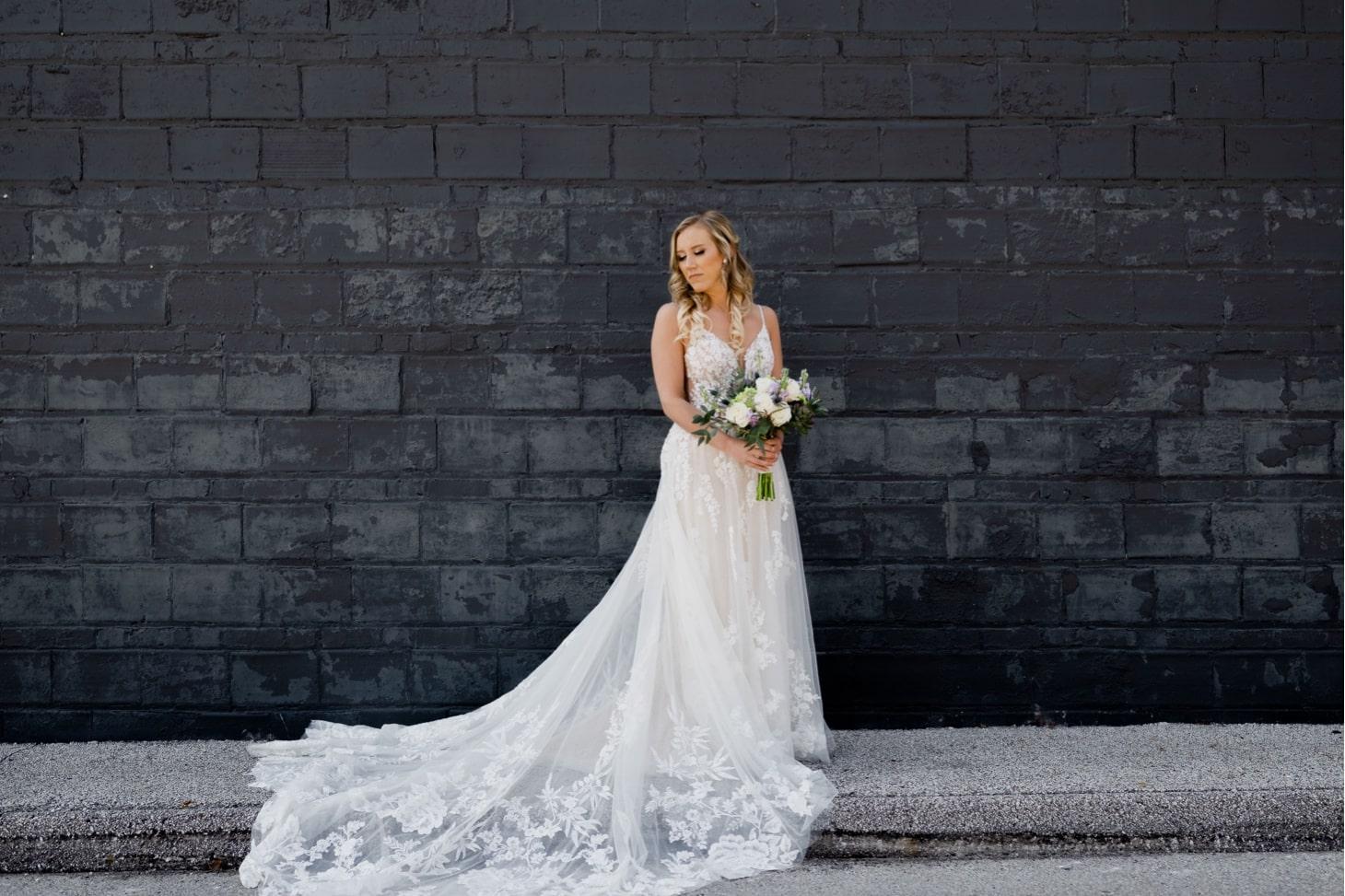 bridal portrait noce jazz club wedding