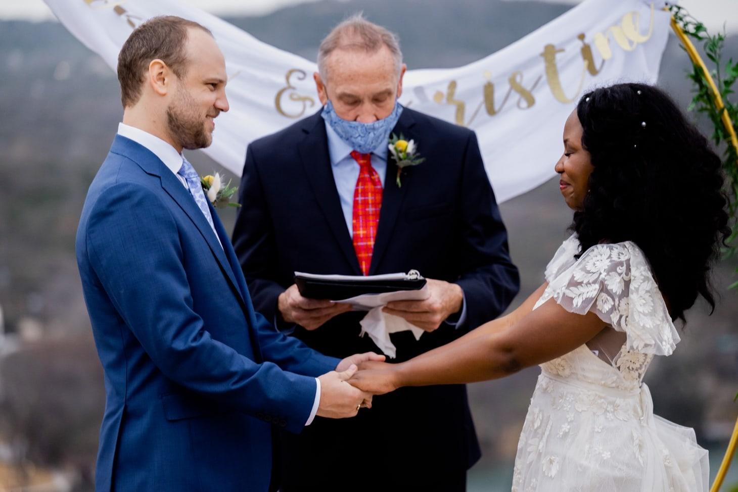 Mount Bonnell wedding ceremony Austin Texas