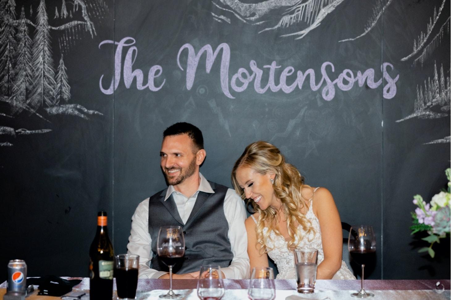 bride and groom Noce Jazz Club wedding