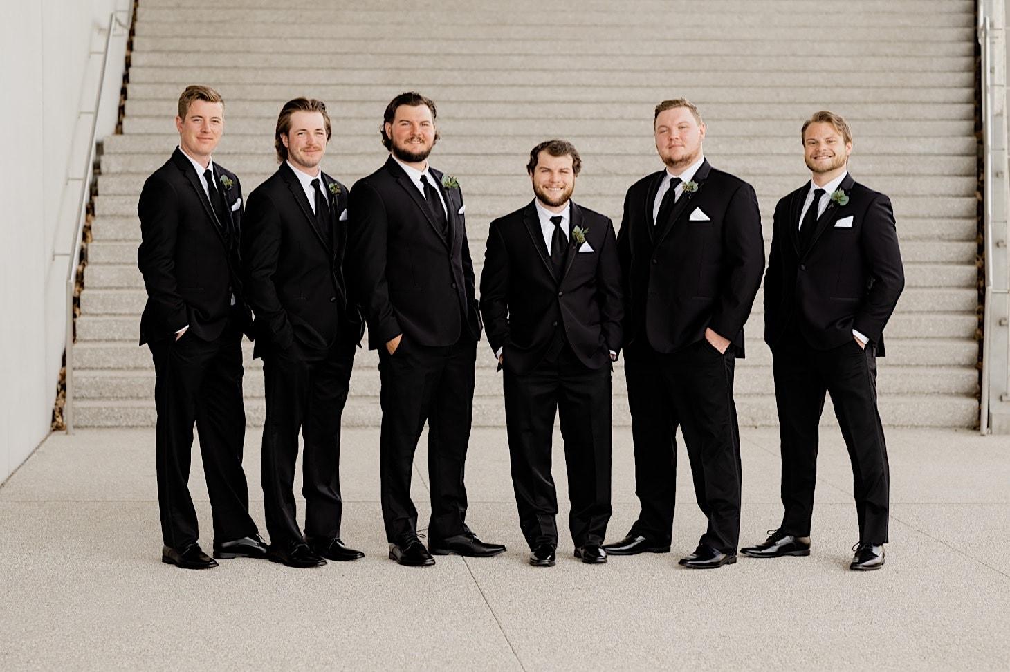 Groomsmen at River Center Des Moines