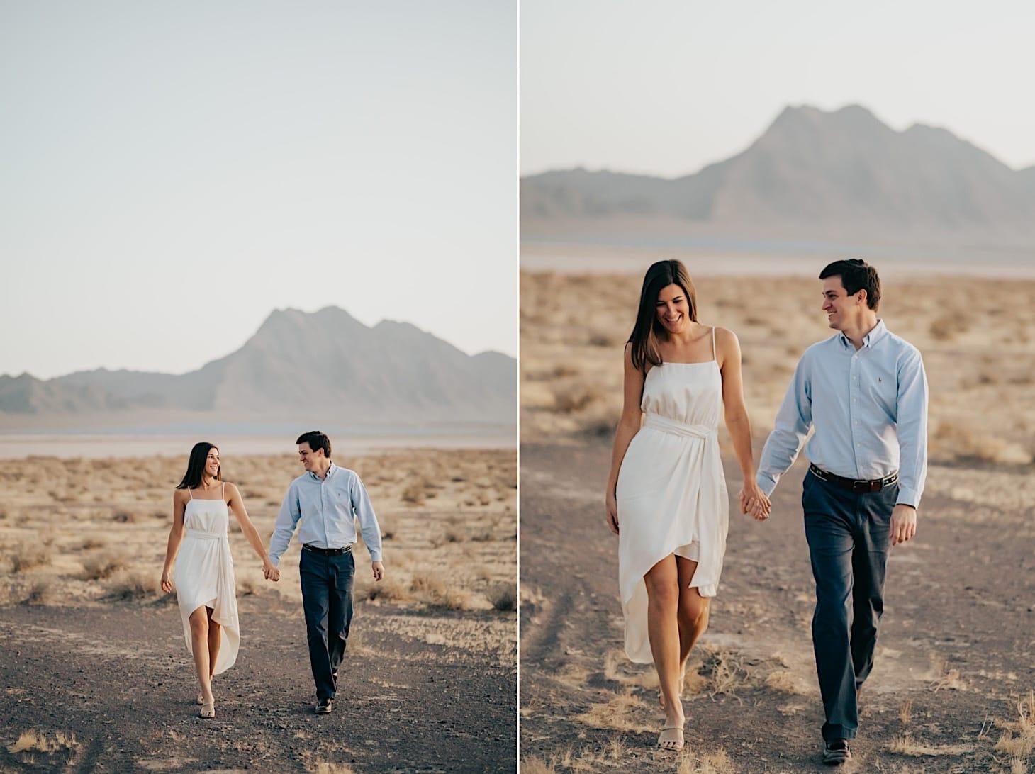 desert engagement photos nevada couples session