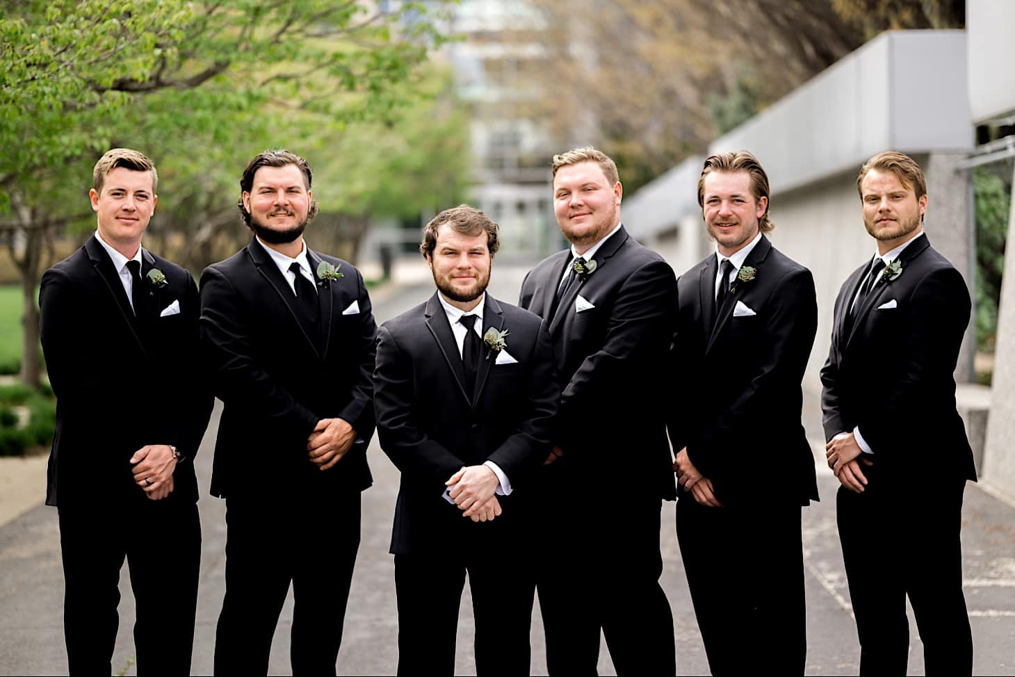 Groomsmen portraits Des Moines wedding photography