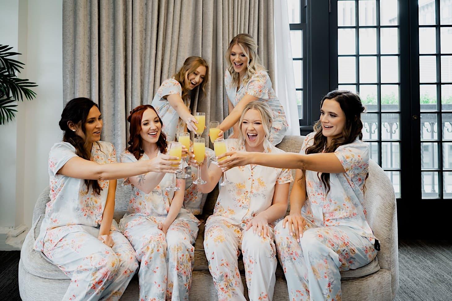 Bridesmaids at Tea Room Des Moines