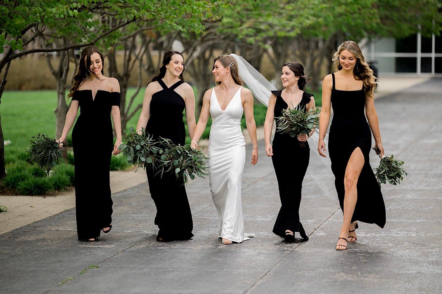 Bridesmaids at River Center wedding Des Moines