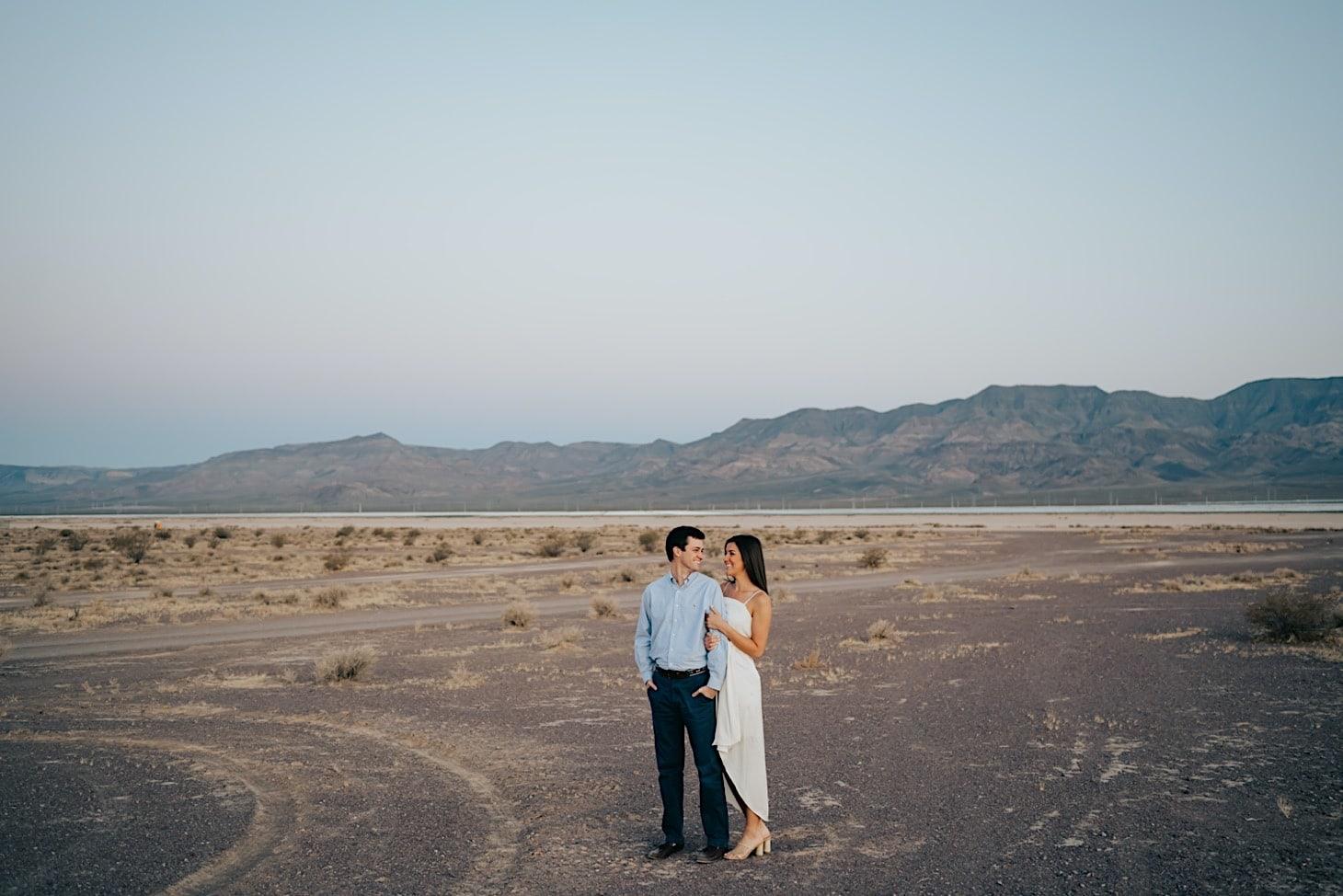 nevada desert engagement photos