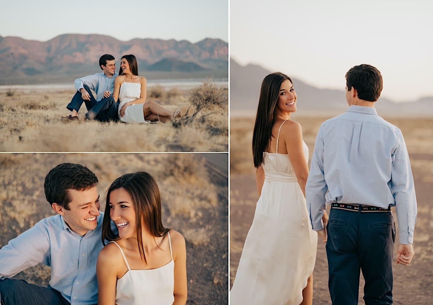 engagement photos in las vegas desert