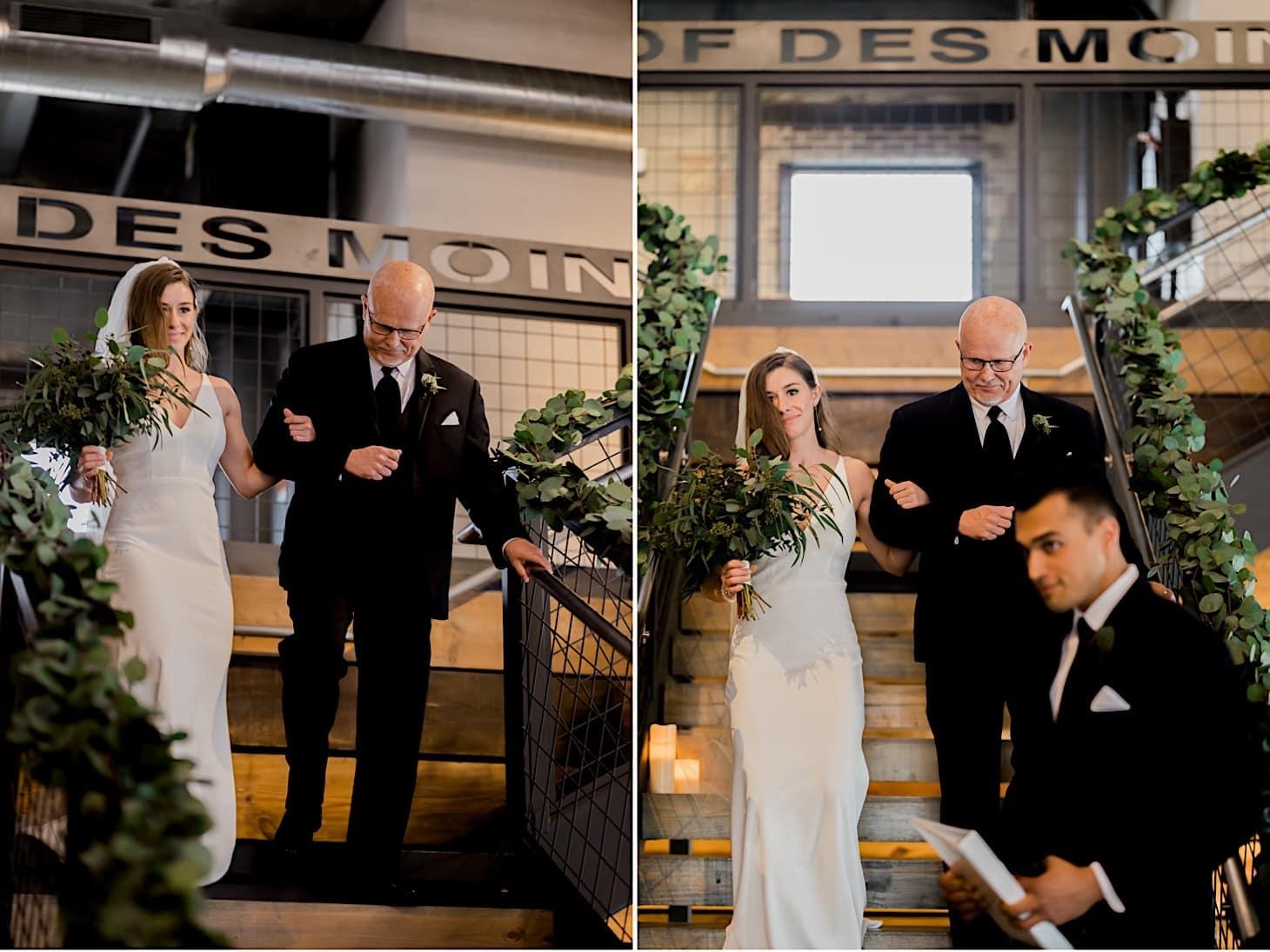 bridal entrance river center wedding Des Moines