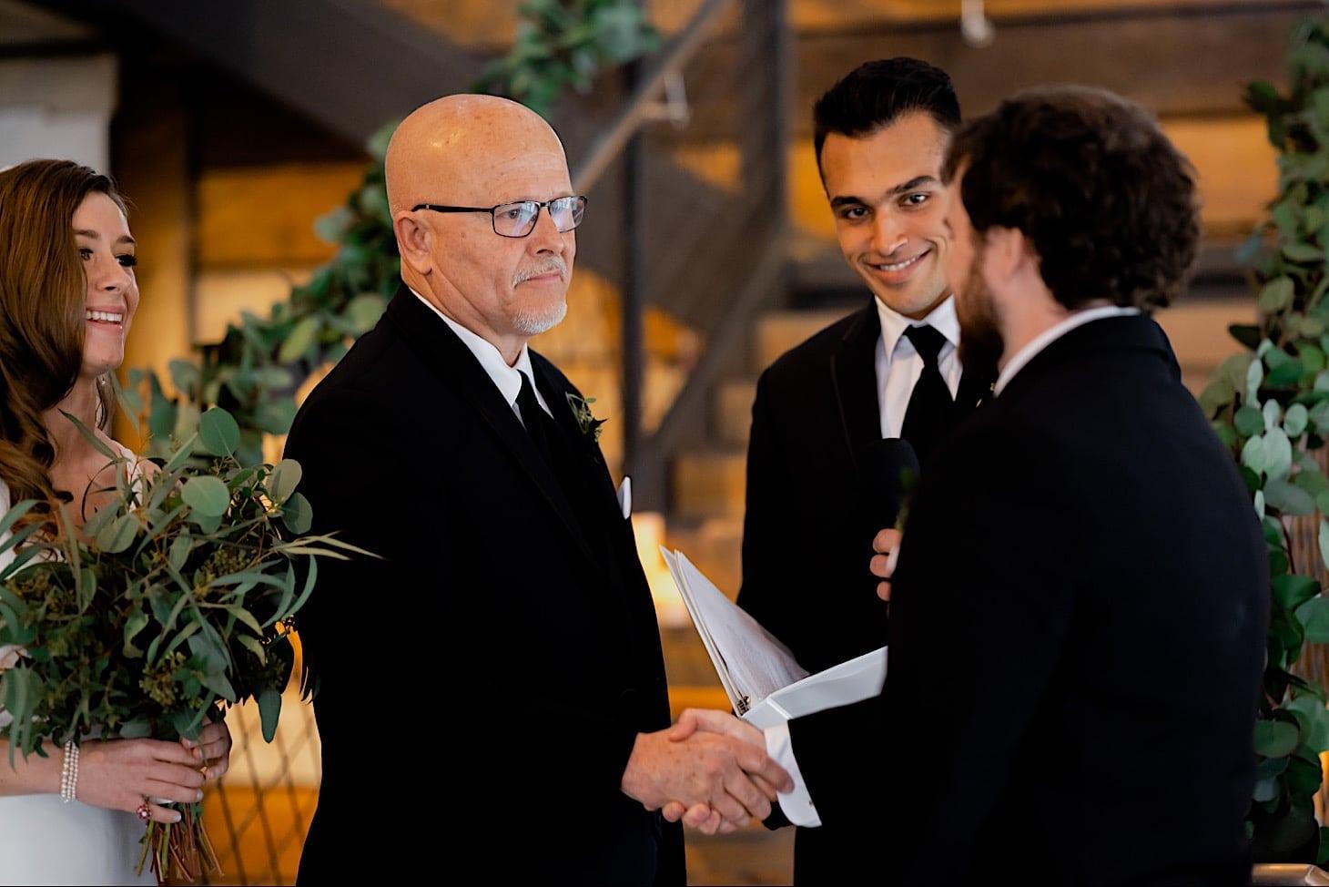 wedding ceremony at River Center