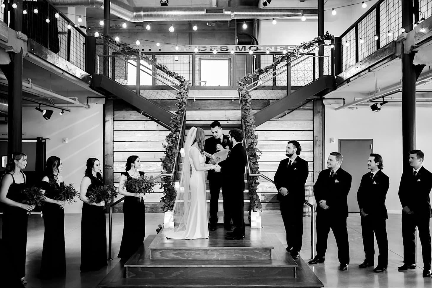 wedding ceremony river center Des Moines Iowa