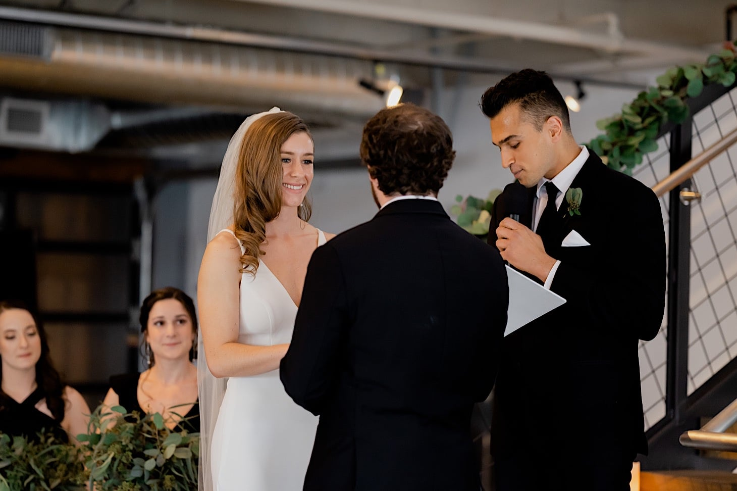 wedding vows at River Center Des Moines