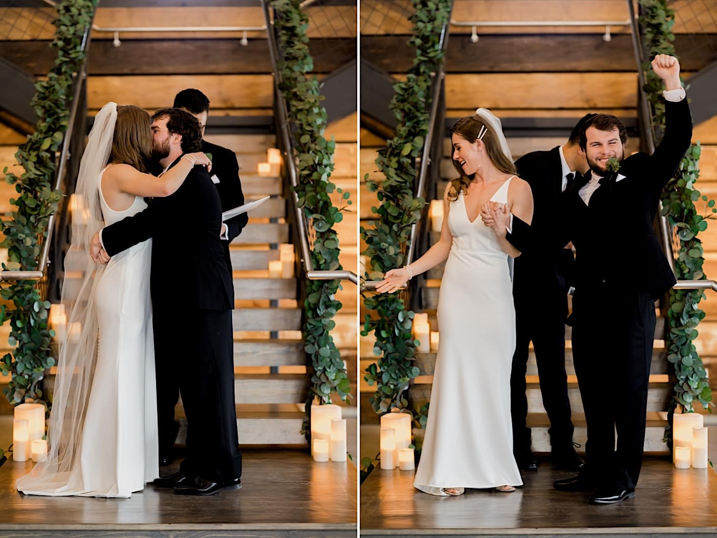 bride and groom at River Center Des Moines Iowa