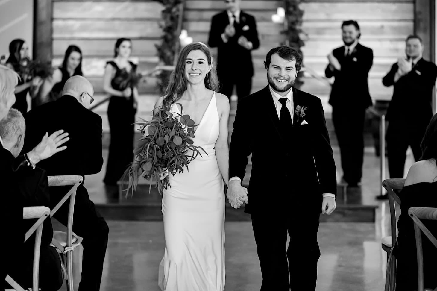 wedding exit at River Center Des Moines