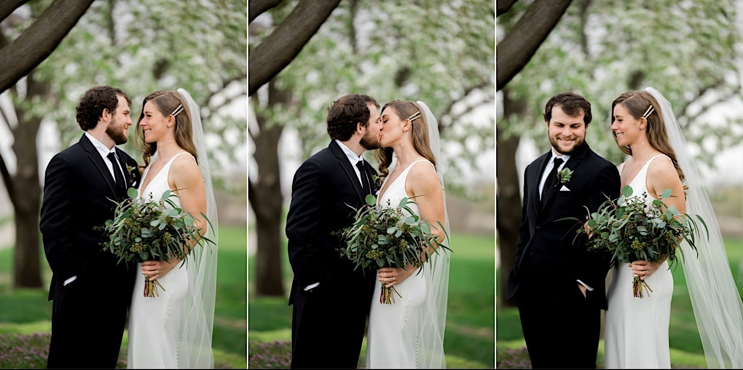 bride and groom at River Center Des Moines