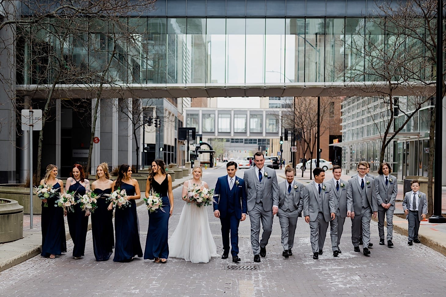 wedding party downtown des moines