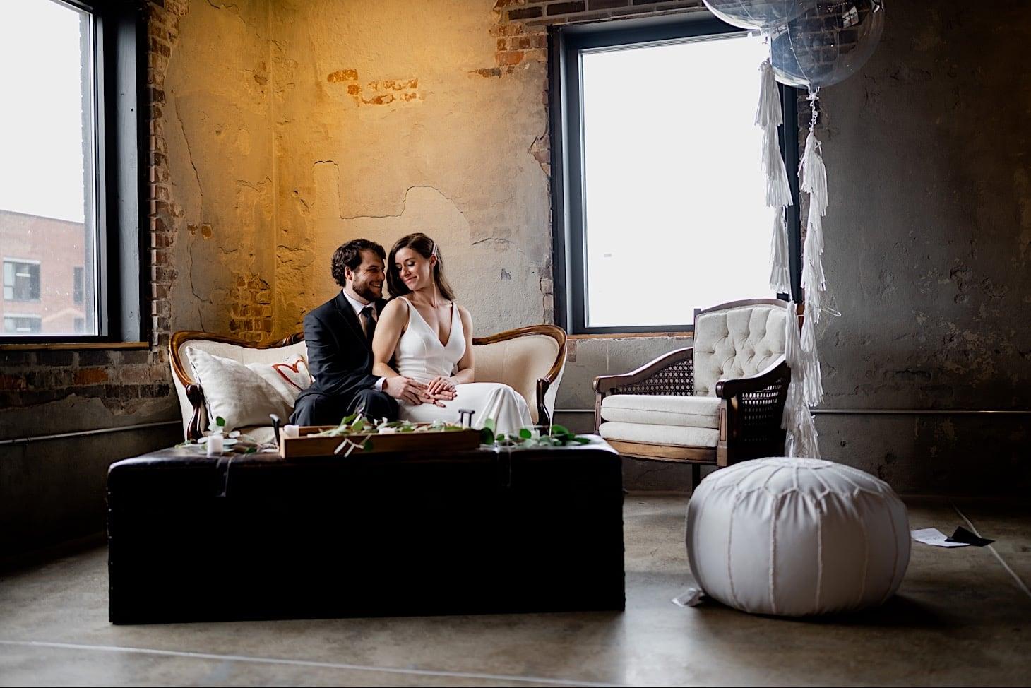 couples portrait Des Moines Iowa wedding photography