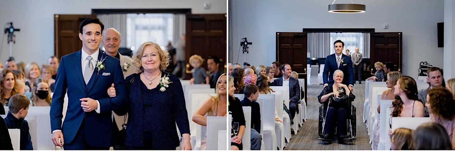 wedding ceremony at the tea room
