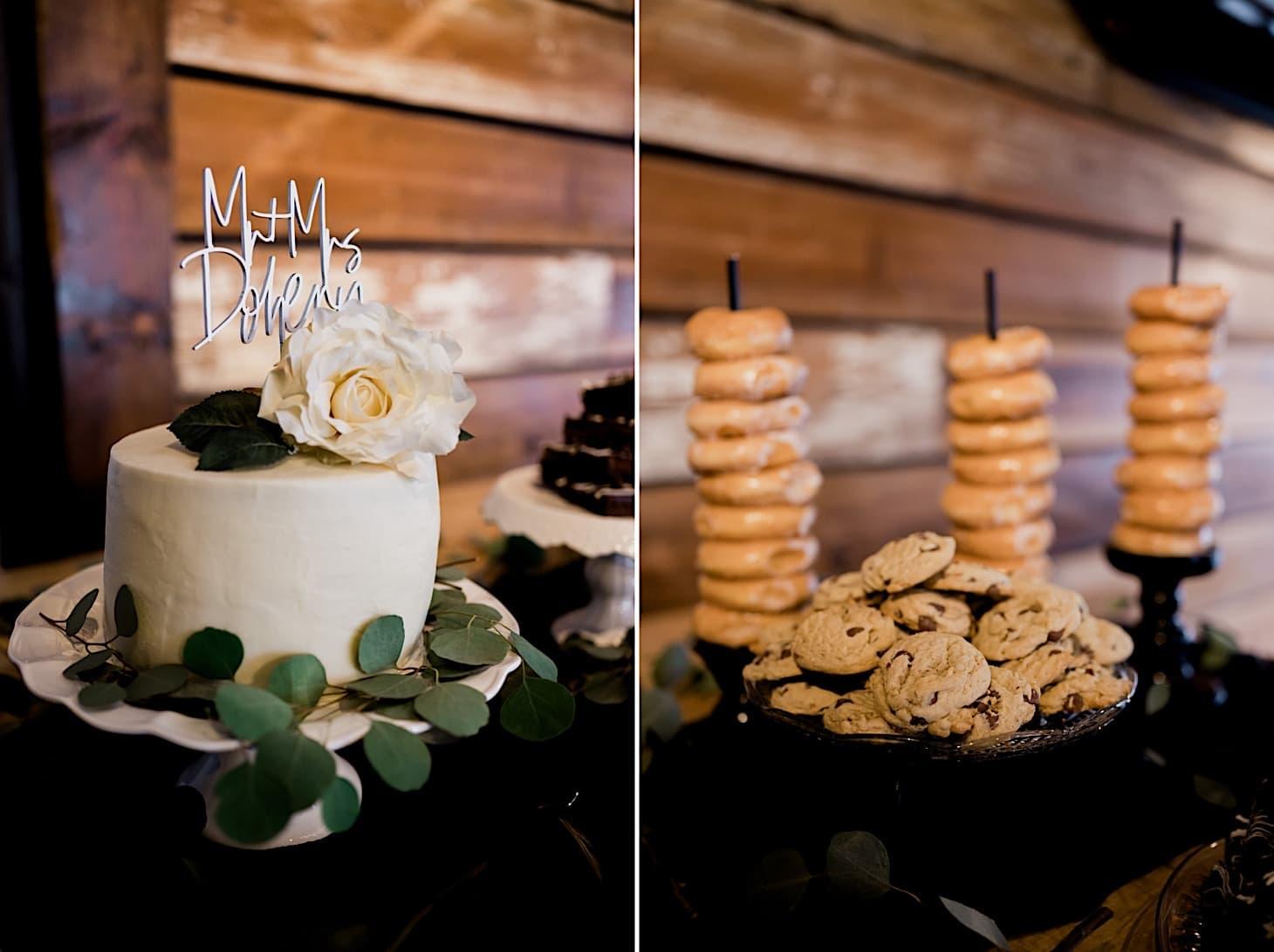 wedding cake at River Center Des Moines