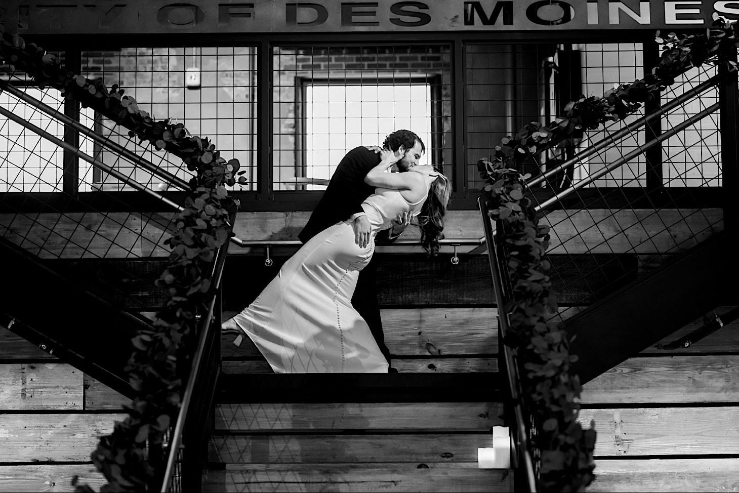 bride and groom entrance River Center