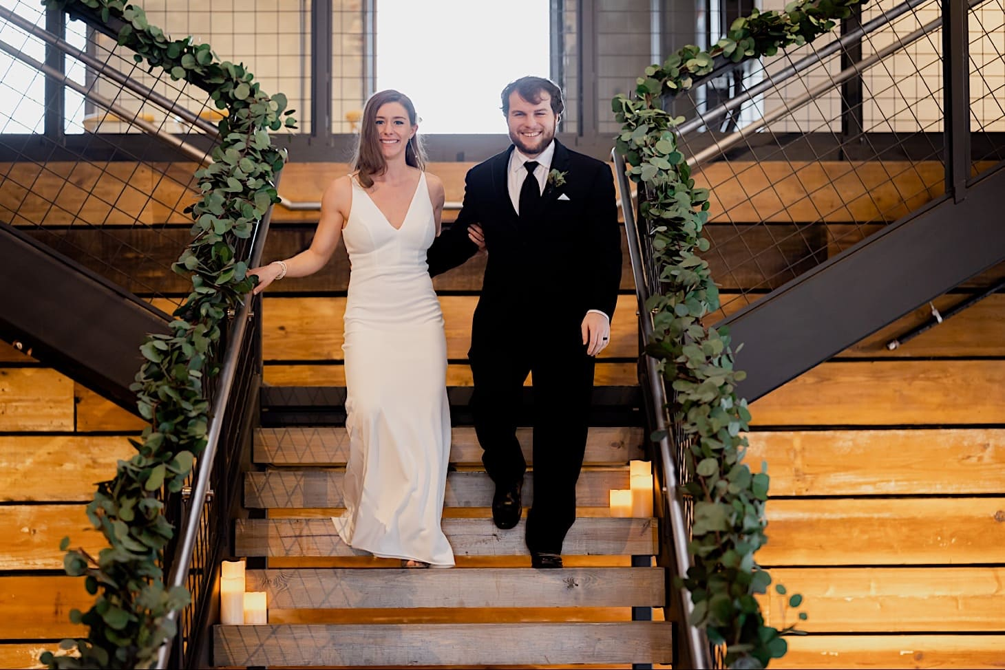bride and groom entrance at Iowa River Center
