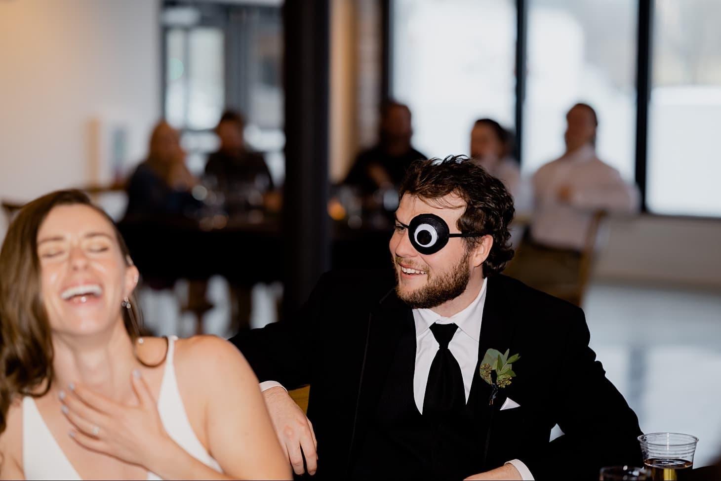 bride and groom at Des Moines wedding reception